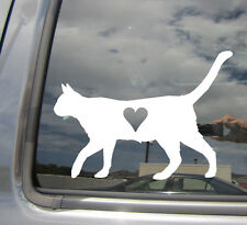 Cat Lover - Heart Love Kitten Adoption - Car Window Vinyl Decal Sticker 01013