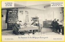 cpa Rare BRUXELLES 3 Rue du Bastion BUREAUX de la BELGIQUE PRÉVOYANTE Banque