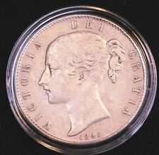 1845 Great Britain Victoria.925 Silver Crown KM-741 Bright Some Luster #CL4