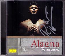 Roberto Alagna SIGNED CD VERDI Luisa MILLER AIDA concretarsi Otello credesse Gheorghiu