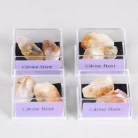 1 Box Citrine Cluster Geode Druzy Crystal Quartz Natural Specimen