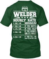 Welder Hourly Rate Hanes Tagless Tee T-Shirt