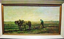 W von Oort (Dutch 1879 -?) Farmer and horses in work 1920