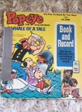 Popeye book and 45 RPM record Vintage