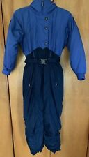 Women's COLUMBIA Ski Snow Suit, Microtex, Blue, Zip Front, Hidden Hood, M