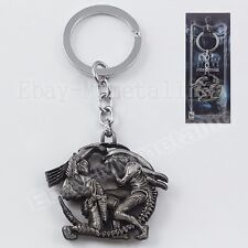 Movie AVP Aliens vs Predator Metal Pendant Key Ring Chain NIB