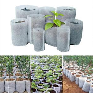 100Pcs/Lots Biodegradable Non-Woven Fabric Bags Plant Growing Pots Nursery Bag