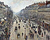 Paris 8x10 Print 0761 Boulevard Montmartre Winter Morning by Camille Pissarro