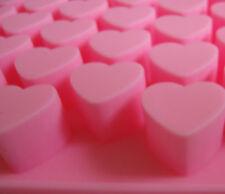 2x  Pralinenform Herz Pink Silikon Schokoladen Eis Seifen Kerzen Form  Sparset