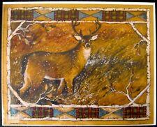 SUSAN WINGET STANDING BUCK ART PRINT 8 X 10 DEER LANDSCAPE LODGE CABIN NATURE