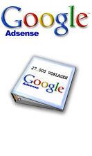 27000 Google AdSense texto HTML plantillas