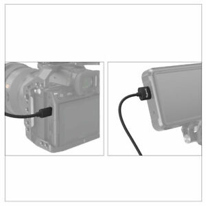 SmallRig Camera Ultra Slim High-quality 4K HDMI 2.0 Cable 35cm  (D to A) 3042