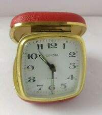 Travel Clock Alarm Vintage Europ Mechanical Small Gift Idea Decor Red Decor