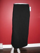 KATE HILL Casual Women's Black Lined Long Skirt - Size 10 - NWT $54