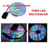 TUBO LED LED COLORATO RGB MULTICOLOR 10 METRI ADDOBBI NEGOZIO ESTERNO GIARDINO