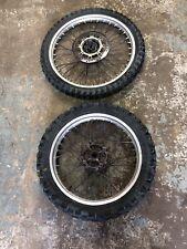 Honda Crm 250 1992 Pair Of Wheels Spokes Rims Hubs Tyres