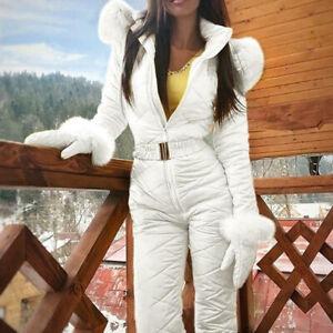 Women Lady Winter Warm Snowsuit Outdoor Sports Pants Ski Suit Waterproof Pants