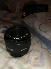 Canon 50mm f/1.8 II EF Lens (with lens filter)