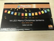 Battery Operated Merry Christmas LED Lantern Lights