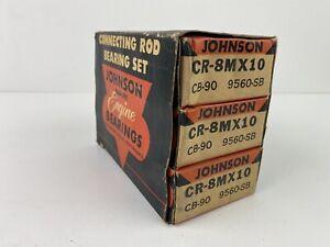37-54 Chrysler Desoto CR8MX10 Johnson Connecting Rod Bearings Set NOS