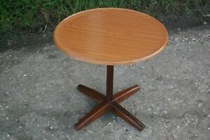 Retro Mid Century Danish Style Round Side Small Table Designed by Alan Turville