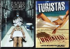 Sutures (DVD) & Turistas (DVD, 2007, Checkpoint; Dual Side; Sensormatic); Horror