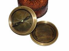 Thoreau's Quote Poem Engraved Compass with Leather case Unique Vintage Gift