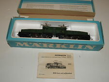 Marklin 3015 SBB CFF Electric Locomotive br Ce 6/8 Crocodile Green w/ Box-1968