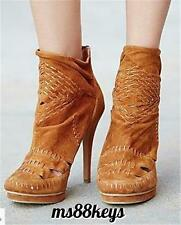 NIB $228 Free People IVY WOVEN HEEL Boot Booties Shoes Jeffrey Campbell SIZE 8