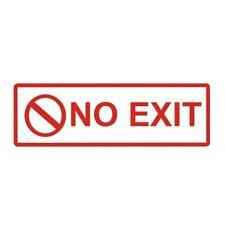"""No Exit Metal Door Sign 6"""" x 2"""""""