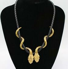 Pendant Betsey Johnson Jewelry Gold Rhinestone Charm Double Snake Necklace Women