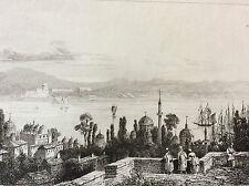 Arménie patriarcat Turquie Constantinople vue de Pera chrétien XIX e