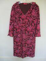 Liz Lange Women's Size L Large Pink Paisley 3/4 Sleeve Maternity Short Dress