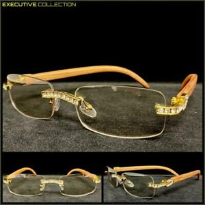 Classy Sophisticated Luxury Hip Hop Rapper Clear Lens EYE GLASSES Rimless Frame