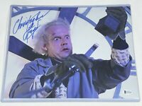 Christopher Lloyd Signed 11x14 Back to the Future Photo Autograph Beckett COA 5