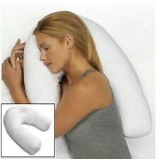 Seat Back Protector Baby Side Sleeper Pil U Shape PP Cotton White Pillow Side