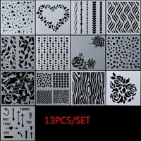 Paper Cards Layering Stencils Scrapbooking Embossing Template Walls Painting