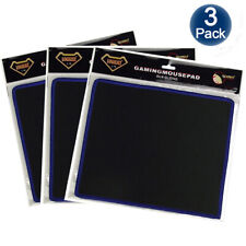 3 Pack Non-Slip Mouse Pad Stitched Edge For Computer PC Gaming Rubber Base