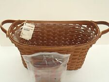 Longaberger Library Basket Combo Rb Rich Brown Toboso Plaid New Retired