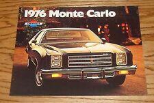Original 1976 Chevrolet Monte Carlo Sales Brochure 76 Chevy Coupe