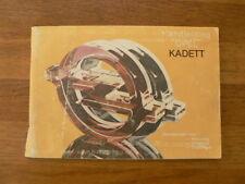 OPEL KADETT HANDLEIDING 1983 OWNER'S MANUAL CAR AUTO