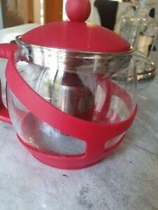 LOOSE LEAF TEAPOT GLASS&PLASTIC , TEA COFFEE POT INFUSER STRAINER