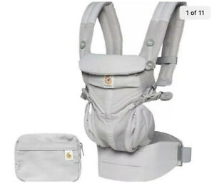 Ergobaby Pearl Grey Omni 360 Cool Air Mesh All in One Baby Carrier, Open Box