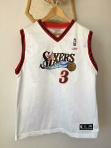 PHILADELPHIA 76ers SIXERS NBA BASKETBALL JERSEY REEBOK ALLEN IVERSON #3 (18-20)