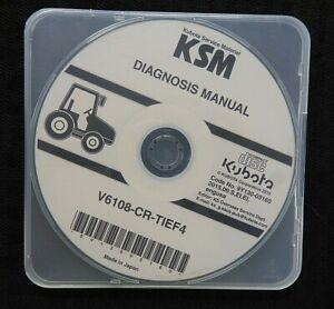 "KUBOTA M7131 M7151 M7171 TRACTOR ""V6108-CR-TIEF4 ENGINE"" DIAGNOSIS MANUAL ON CD"