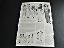 Semi-Princess Dresses-The Delineator July, 1911 Magazine Page  Advertisement.