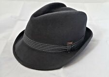 VINTAGE AUTHENTIC TONAK 1799 GRAY MEN'S FEDORA HAT SIZE:US6 7/8 EU 55