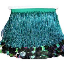 GOLD Glass Tube Fringe Bead Tassel Drop Trim Ribbon Border Dance Lace X167