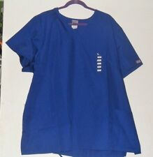 "WOMEN'S PLUS 4XL SCRUB TOP, 26/28/30W MEDICAL UNIFORM SHIRT NWT 32"" LONG"