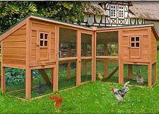 Conigliera pollaio gabbia in legno  ANGOLARE GIGANTE 440cm GALLINE PULCINI uova